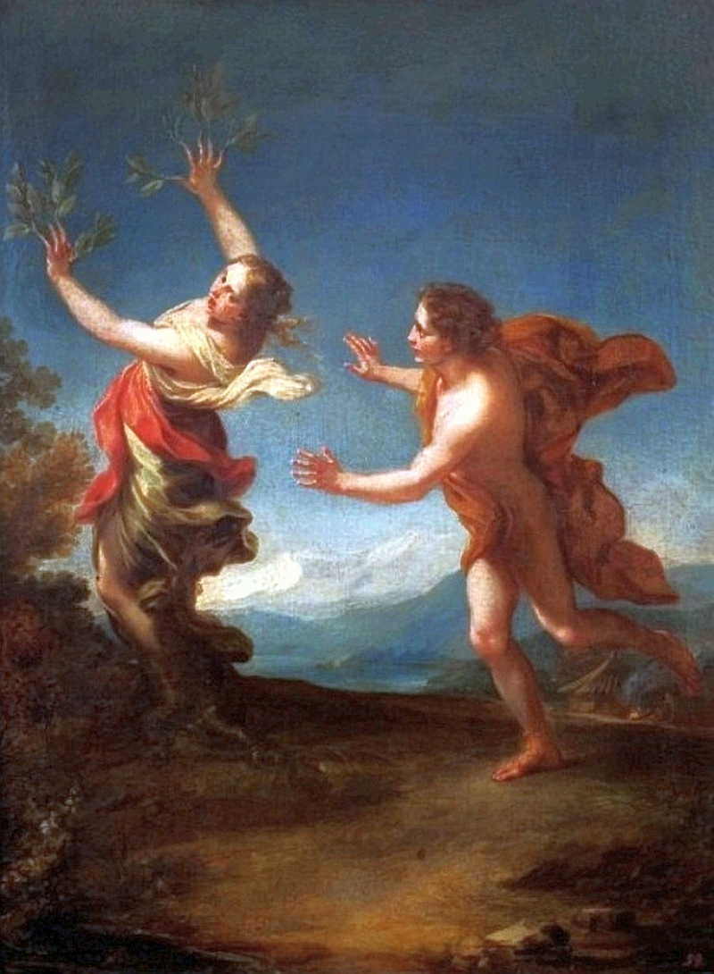 an analysis of the greek myth about tainted love apollo and daphne Causing apollo to fall in love with daphne had been good fun and better revenge, but that had been in his younger, more immature days he wasn't the type to hold a grudge anymoreprobably well, in any case, if apollo did anything stupid now, hermes would be there to knock some sense into him.
