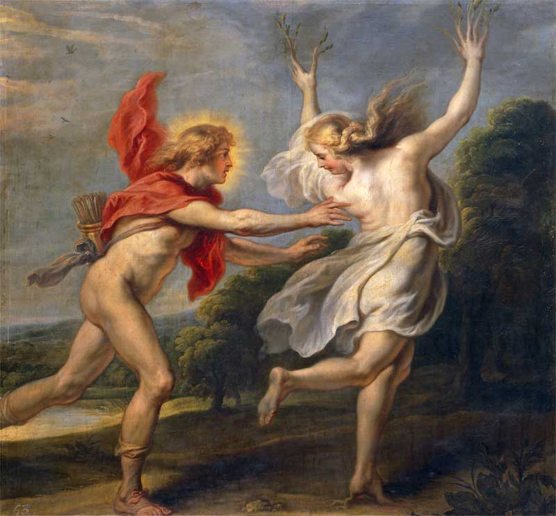 daphne and apollo Apollo: apollo, in greco-roman mythology, a deity of manifold function and meaning, one of the most widely revered and daphne by the god phoebus apollo.