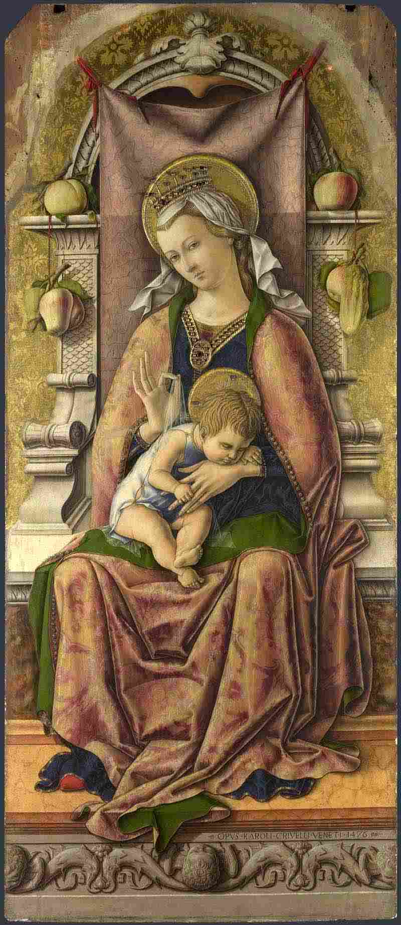 the new presentation and perspectives of the virgin and child through the paintings of carlo crivell Detail from carlo crivelli striving to see the holy figures of the virgin, christ child and saints 8 'entering the picture' published online 2014.
