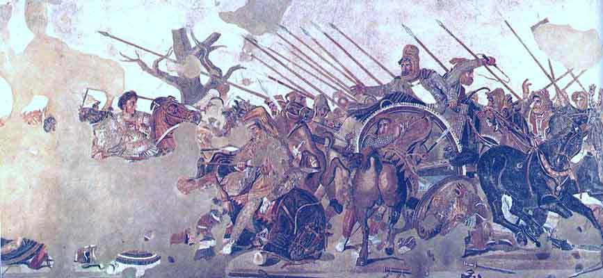 Hellenistic art the battle of issus for Battle of issus painting