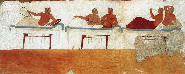 What Does The Symposium In Diver Tomb Represent A Life With Wine Wife Or Man And Song As It Was Will Be