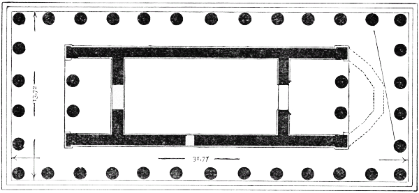 Fig. 15.--Plan of the Theseion. (From Baumeister.)