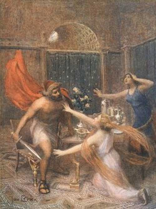 Odysseus Threatening Circe Jan Styka