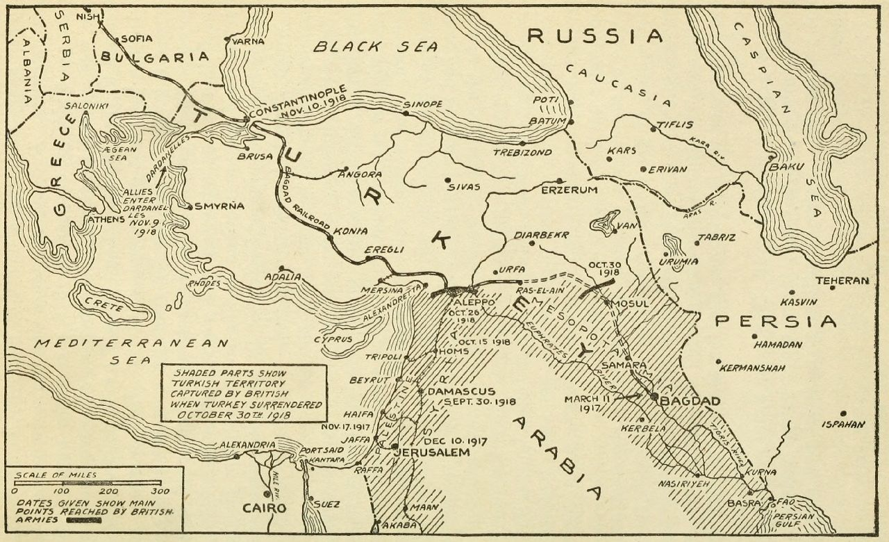 the conquest of palestine syria and mesopotamia by the british armies
