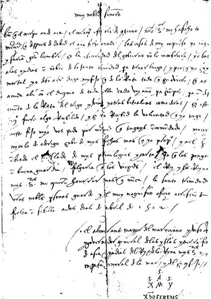 letter to ferdinand and isabella from columbus Tuyên bố: christopher columbus sold sex slaves — some as young as nine years old.