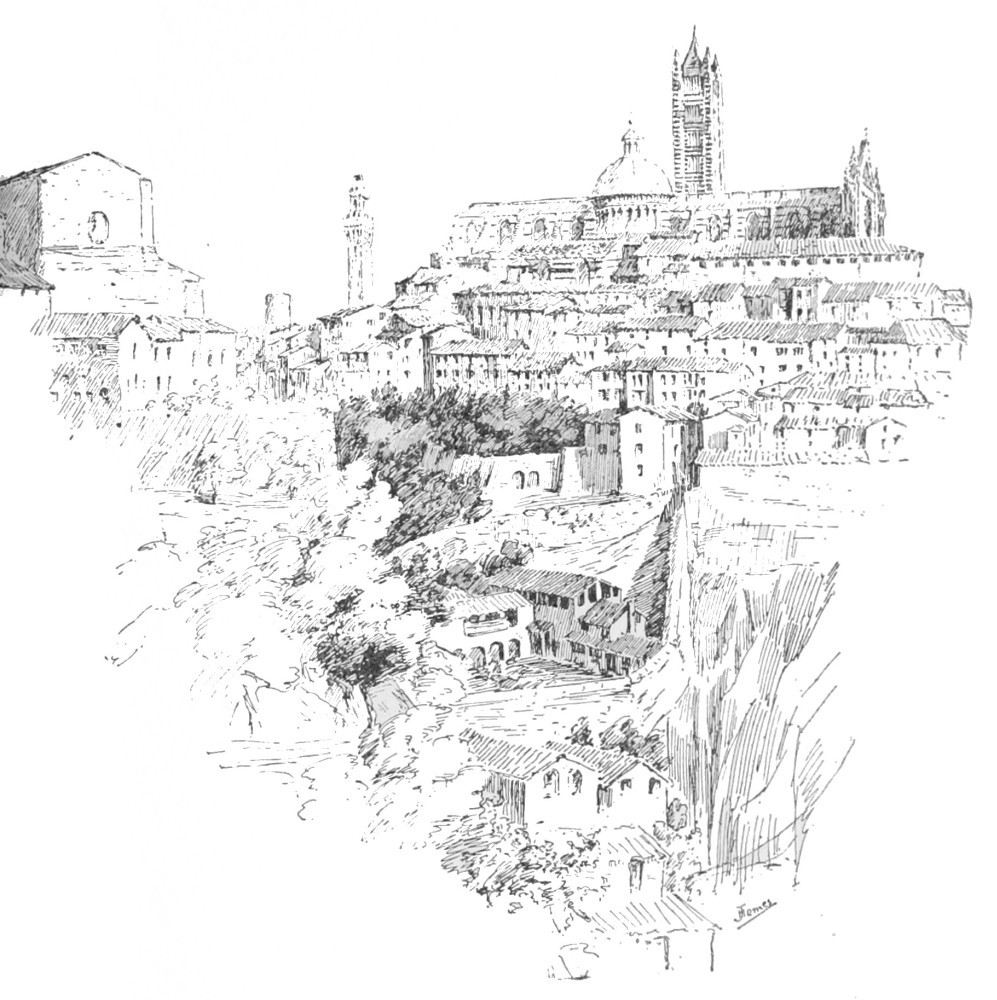 SIENA FROM BEHIND S DOMENICO