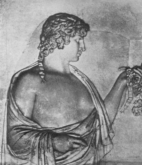 Antinous Bas-relief found at Hadrian's Villa, now in the Villa Albani