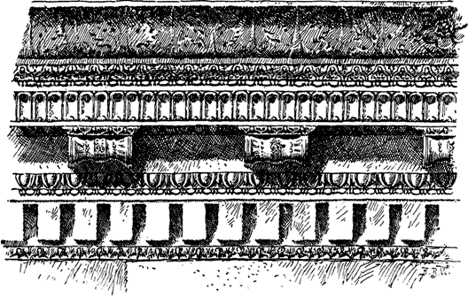 Entablature of the Temple of Concord.