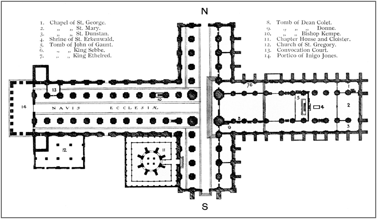 Bell 39 s cathedrals the cathedral church of st paul for South cathedral mansions floor plans