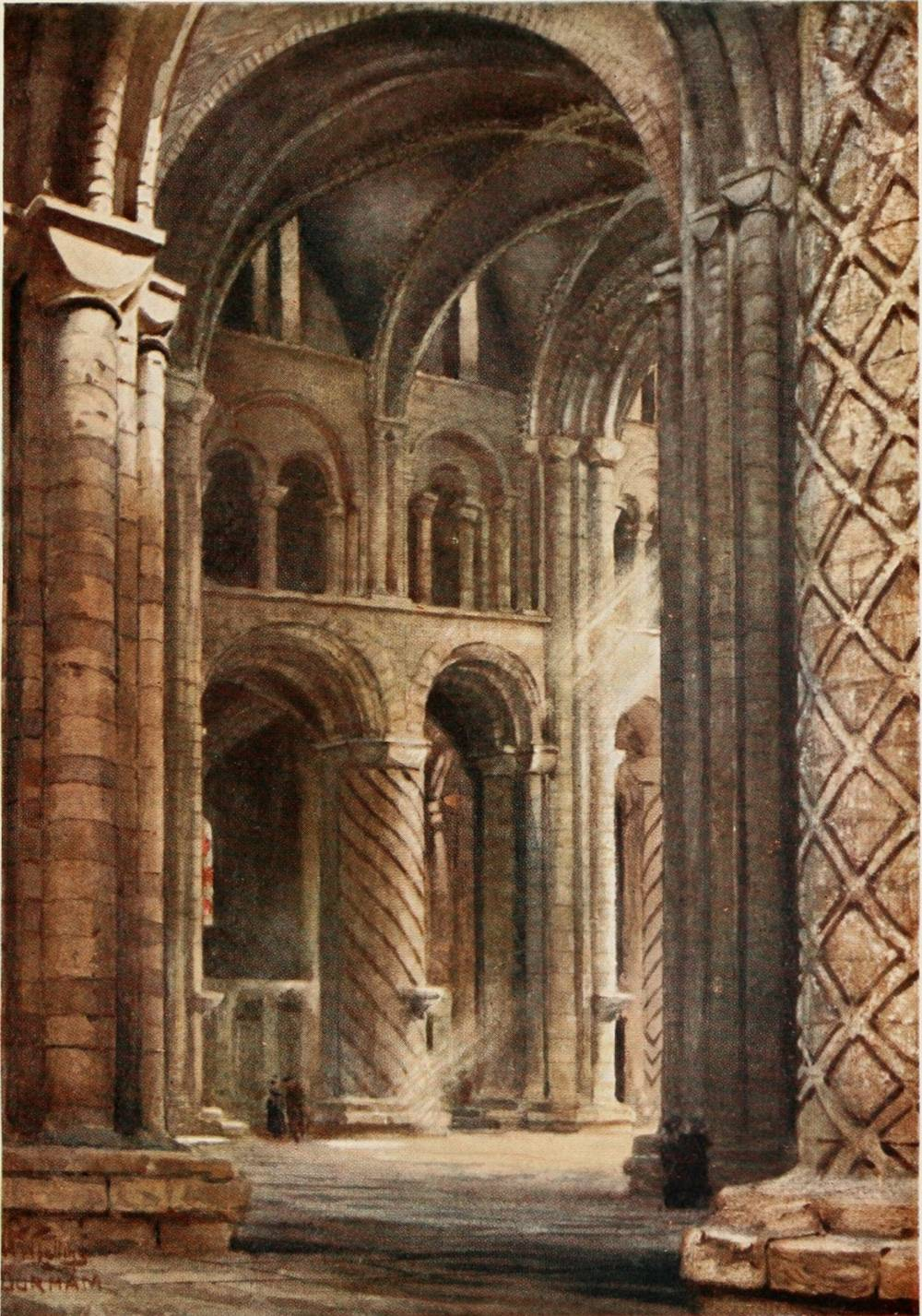 Cathedral cities of england collins william wiehe for Catedral de durham interior