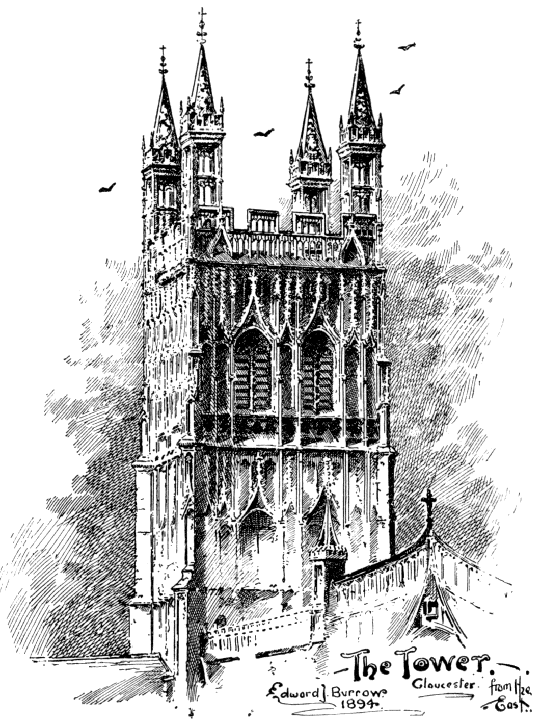 The Tower Gloucester From East Edward J Burrows 1894