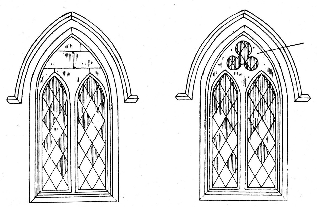 WINDOWS SHOWING ORIGINS OF TRACERY