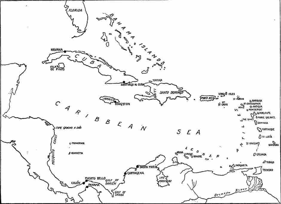 West Indies Central America Central America Caribbean - North america map black and white