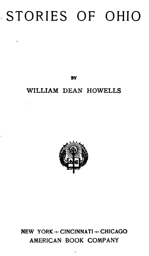 Stories Of Ohio William Dean Howells