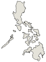 Philippines Map Black And White.Philippines